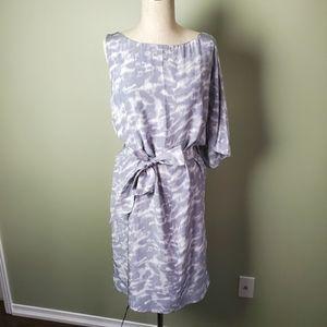 Michael Kors Grey Silk Dress Size Large